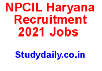 npcil haryana recruitment 2021
