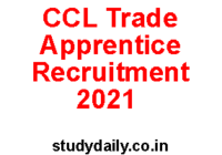 ccl jharkhand apprentice recruitment 2021