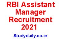 rbi assistant manager jobs 2021