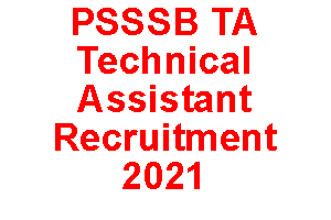 psssb technical assistant recruitment 2021