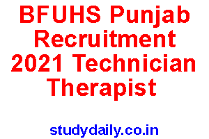 bfuhs punjab recruitment 2021