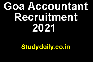 goa accountant recruitment 2021