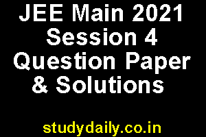 jee main question paper 2021 session 4