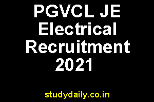 pgvcl je electrical recruitment 2021