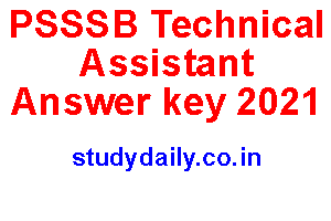 psssb technical assistant answer key 2021